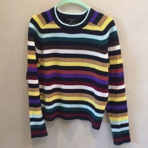 J.crew super soft wool sweater in multi stripe
